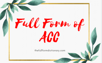 full form of ACC
