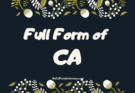 FULL FORM OF CA