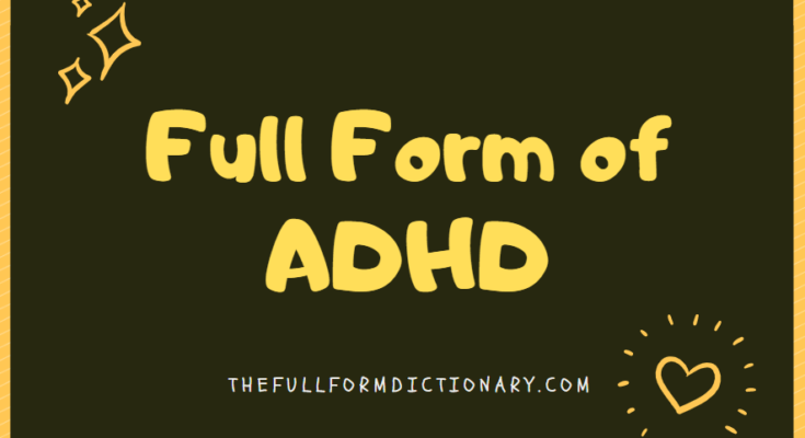 full form of adhd