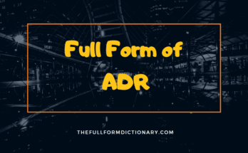 full form of adr