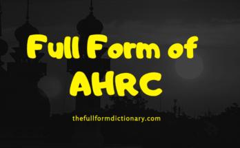 full form of ahrc