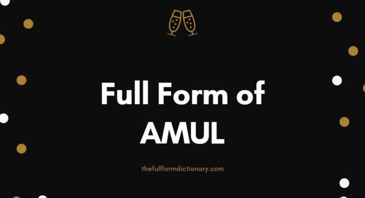 full form of amul