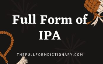 full form of ipa