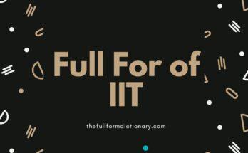 full form if iit