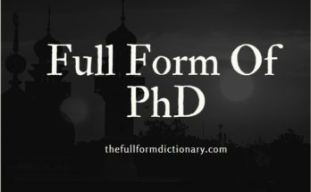 full form of phd