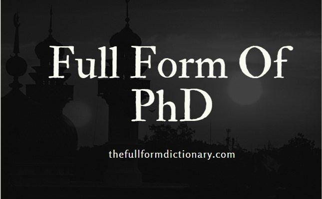 full form of phd